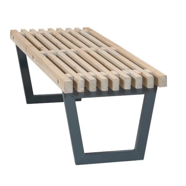 siesta 140 cm banc table a lattes de jardin lounge design lasure style bois flotte
