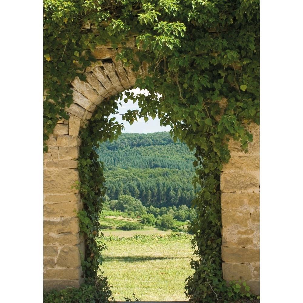 trompe l œil vallee cadre tableau deco jardin