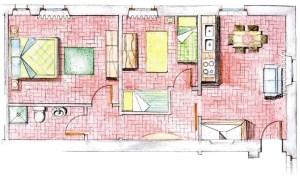 planimetria di appartamento bilocale