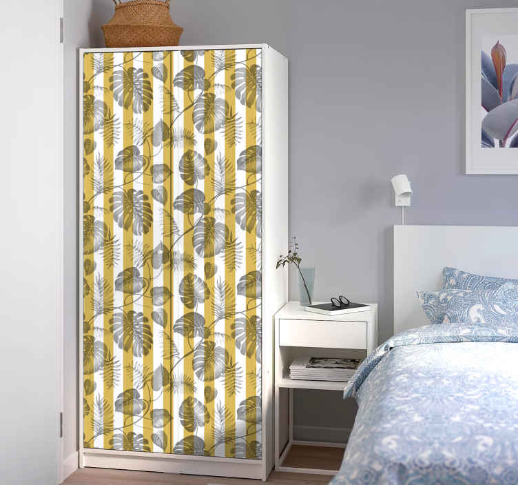 Sticker porte placard coulissante New York   TenStickers Sticker porte placard coulissante New York