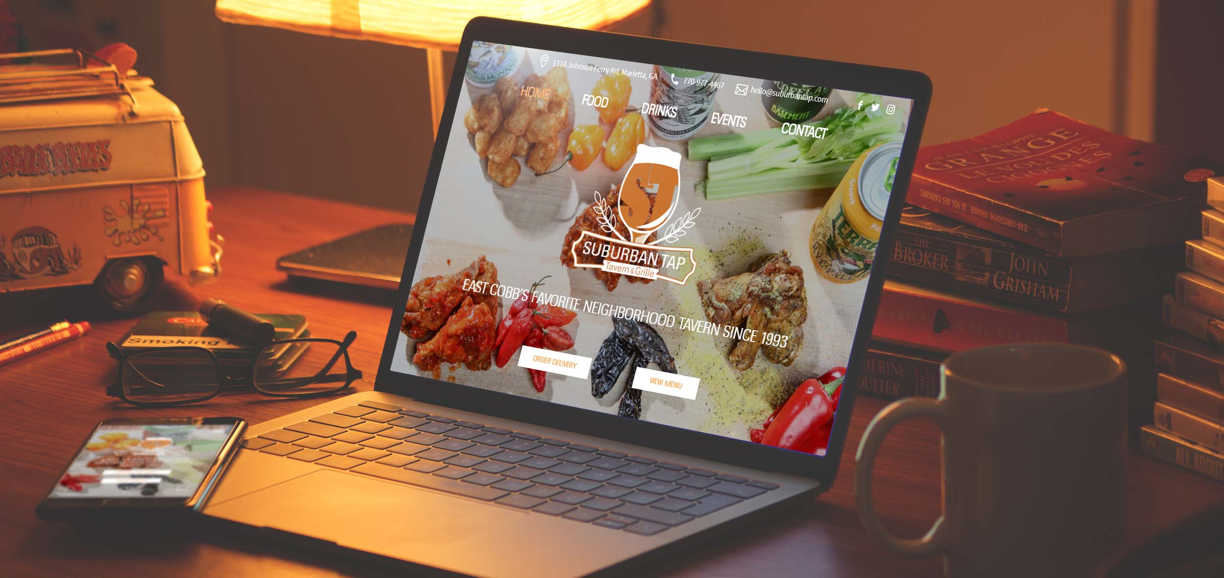 Restaurant and bar responsive website design