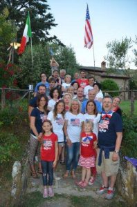 Sagre Amedeo: Our American-style 4th of July bar-b-cue on Amedeo's birthday.
