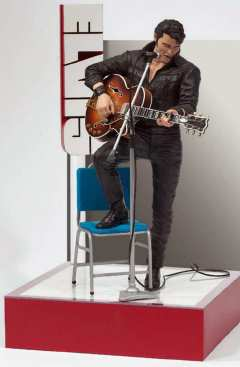 Elvis Presley Figure Guitar Microphone Chair Amp Stage EBay