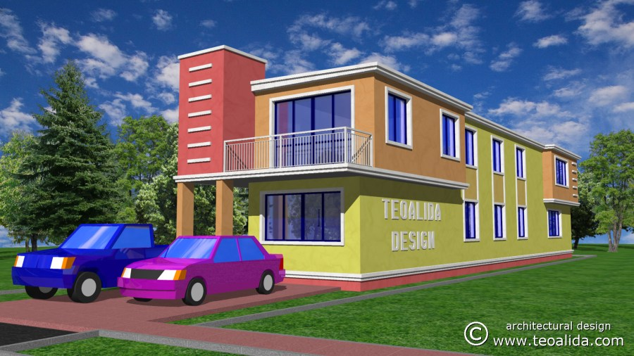 House floor plans 50 400 sqm designed by Teoalida   Teoalida Website 3D cubist house design front view
