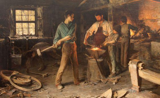 Cima Luigi - I Fabbri - Olio su tela 1896