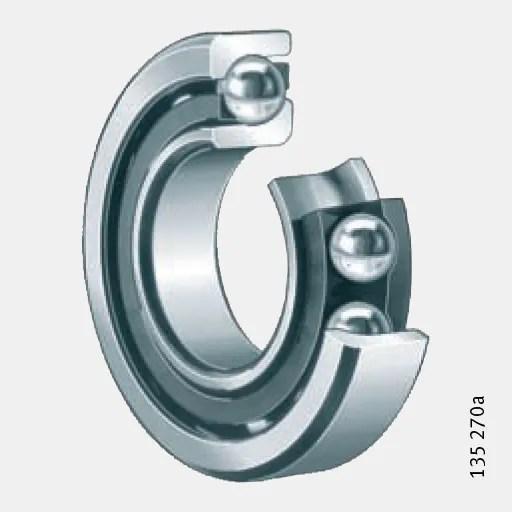 Single row angular contact ball bearings : Single Row