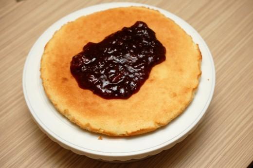 Victoria Sponge - Pandispan cu dulceata