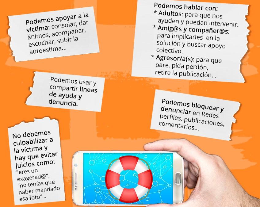 Infografía: Cómo ayudar a una víctima de ciberacoso