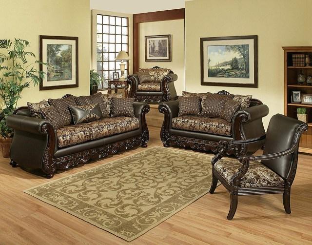 Luxury Classic Sofa Set European Furniture 3 Piece Paris ...