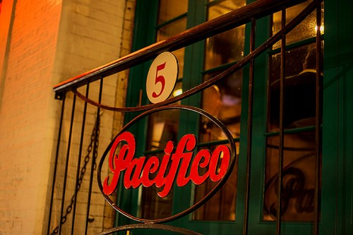 Cafe Pacifico's outside sign