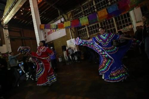 Mariachi dancers performing