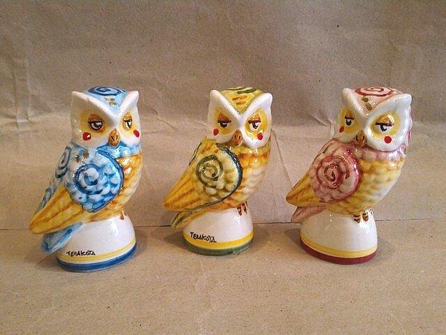 Gufetto in ceramica di caltagirone. Bomboniere Animali Ceramica Matrimonio Laurea Ingrosso Ceramiche Artistiche Terakota