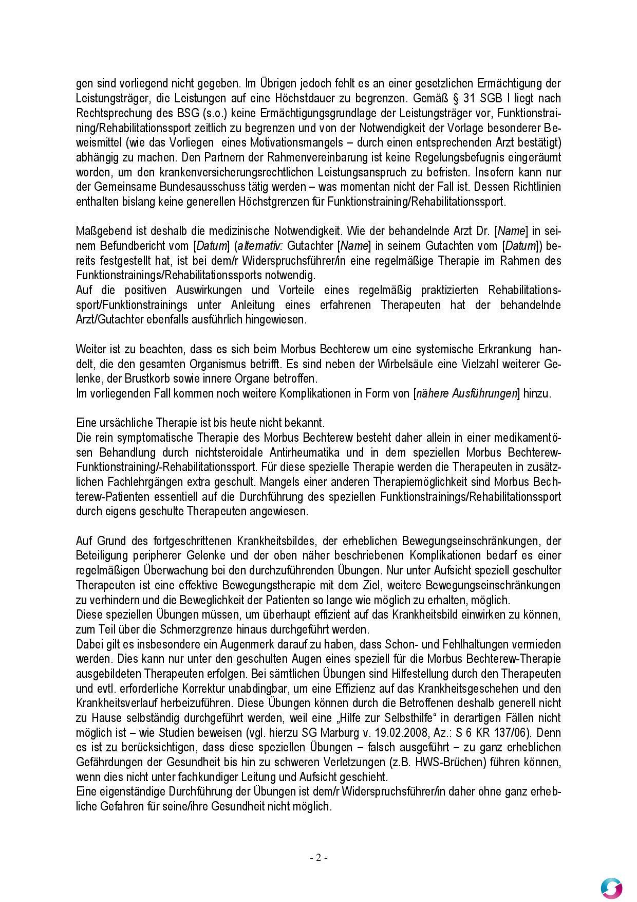 Medizinische Rehabilitation Antrag Und Widerspruch 11