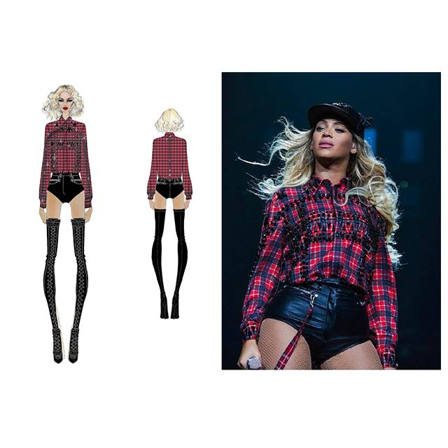 New Mrs. Carter Show World tour outfit by Givenchy.