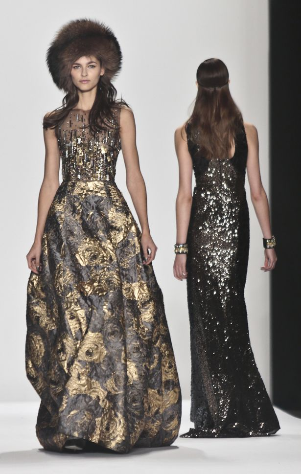 nyfw badgley mischka 2014 fall