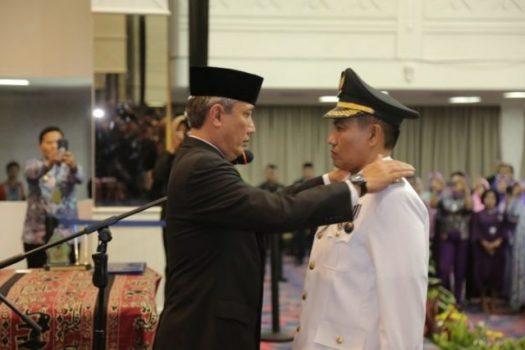 Pelantikan Pj Bupati Tanggamus, Jumat (23/2/201).
