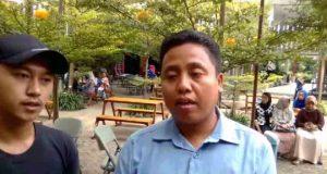 Ketua Ikam Jabung Say (IJS), Zainal Abidin saat berikan keterangan untuk menepis dan menghapus stigma begal yang selama ini melekat di wilayah Jabung, Lampung Timur.