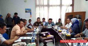 Rapat evaluasi kampanye Pilgub Lampung 2018 di Kantor Bawaslu Lampung, Selasa (27/3/2018).