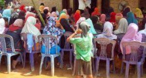 Agung Ilmu Mangkunegara kampanye di Dusun Sidomulyo.