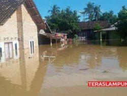 Ratusan Rumah di Lampura Terendam Banjir, Satu Rumah Hanyut Terbawa Arus