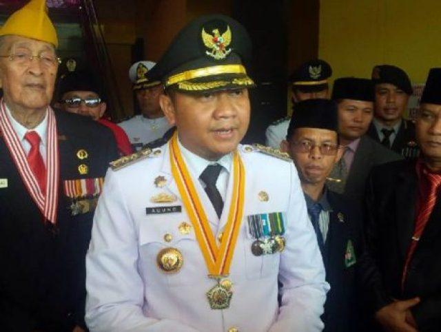 Bupati Agung Ilmu Mangkunegara usai menjadi Inspektur Upacara Proklamasi kemerdekaan RI