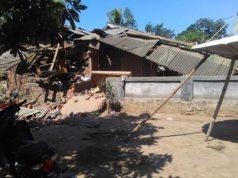 Bangunan roboh akibat gempa 6,9 SR yang mengguncang Lombok, Minggu, 19 Agustus 2018 (Foto: BNPB)