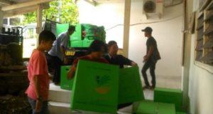 Bantuan dari Dinas Sosial Provinsi Lampung untuk warga eks pasar Griya Sukarame Bandarlampung