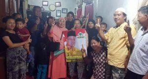 Abi Hasan Mu'an bertemu emak-emak di kelurahan Suka Jawa Lama, kecamatan Tanjungkarang Barat.