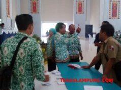 Suasana pemilihan Ketua Apdesi Lampura periode 2018 - 2023