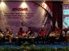 "Seminar ""Peran Alumni GMNI dalam Menguatkan Semangat Trisaksi Menghadapi Tantangan Politik Identitas di Era Milenial"", di Hotel Sheraton Bandarlampung,Rabu (12/11)."
