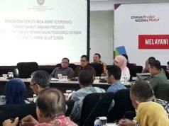 Plt. Bupati Lamsel Nanang Ermanto menghadiri Rakor Kesiapsiagaan Penanganan Bencana di Selat Sunda.