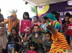 Gubernur Ridho di arena Festival Kuliner Lalang Waya di Taman Gajah, Enggal, Sabtu petang, 9 Maret 2019.