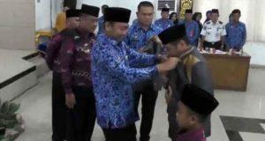 Bupati Agung Ilmu Mangkunegara melepas para peserta MTQ Lampung Utara yang akan bertanding di Tulangbawang Barat