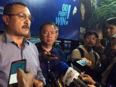 Kadiv Advokasi dan Hukum DPP Partai Demokrat, Ferdinand Hutahaean saat memberikan keterangan soal Andi Arief. (Merdeka.com/Intan Umbari Prihatin)