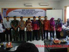 Rapat pleno rekapitulasi penghitungan suara di KPU Bandarlampung, Kamis (2./5/2019).