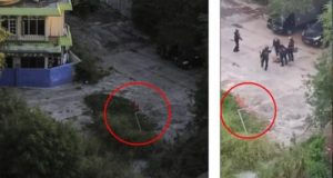 Hasil foto Tempo di lokasi (kiri) dengan tangkapan layar dari video viral yang beredar (kanan) pada detik ke 00:32 dan 00:39 menunjukkan beberapa kesamaan: