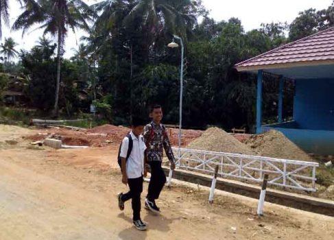 Lokasi pembangunan gedung PAUD Desa Tamanjaya
