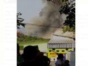 oto tangkap layar video gudang penyimpanan bahan peledak Mako Brimob Srondol di Jateng meledak, Sabtu (14/9/2019) pagi. - Istimewa