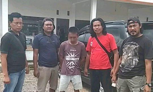 DPO pelaku spesialis pencurian hewan ternak, Arohman (24), warga Kampung Ringin Sari, Kecamatan Banjar Margo, Tulangbawang saat di Mapolres Tulangbawang (foto: Humas Polres Tuba)