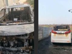 Mobil Alphard Via Vallen dibakar orang tak dikenal pada Selasa pagi, 30 Juni 2020. Mobil itu diparkir di sebelah tembok rumah Via Vallen di Tanggulangin, Sidoarjo, Jawa Timur.