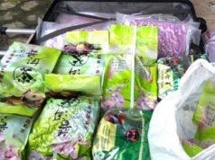barang bukti narkoba puluhan kilogram sabu-sabu dan ribuan butir pil ekstasi yang ditemukan warga di pinggir Jalinsum Desa Tarahan, Kecamatan Katibung, Lampung Selatan tepatnya di dekat pabrik sabut kelapa.