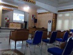 Acara nonton bareng pelantikan Budi Utomo sebagai Bupati Lampung Utara sepi peminat. Banyak kursi yang terlihat kosong alias tak terisi