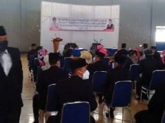 Suasana sebelum pelantikan pejabat di lingkungan Pemkab Lampung Utara, Selasa pagi (9/3/2021).