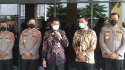 Wakil Ketua Komisi Pemberantasan Korupsi (KPK) RI, Nawawi Pomolango bersama jajaran menyambangi Polda Lampung, Kamis (22/4/2021).