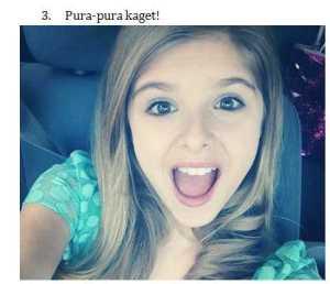 3. Selfi Pura Pura Kaget