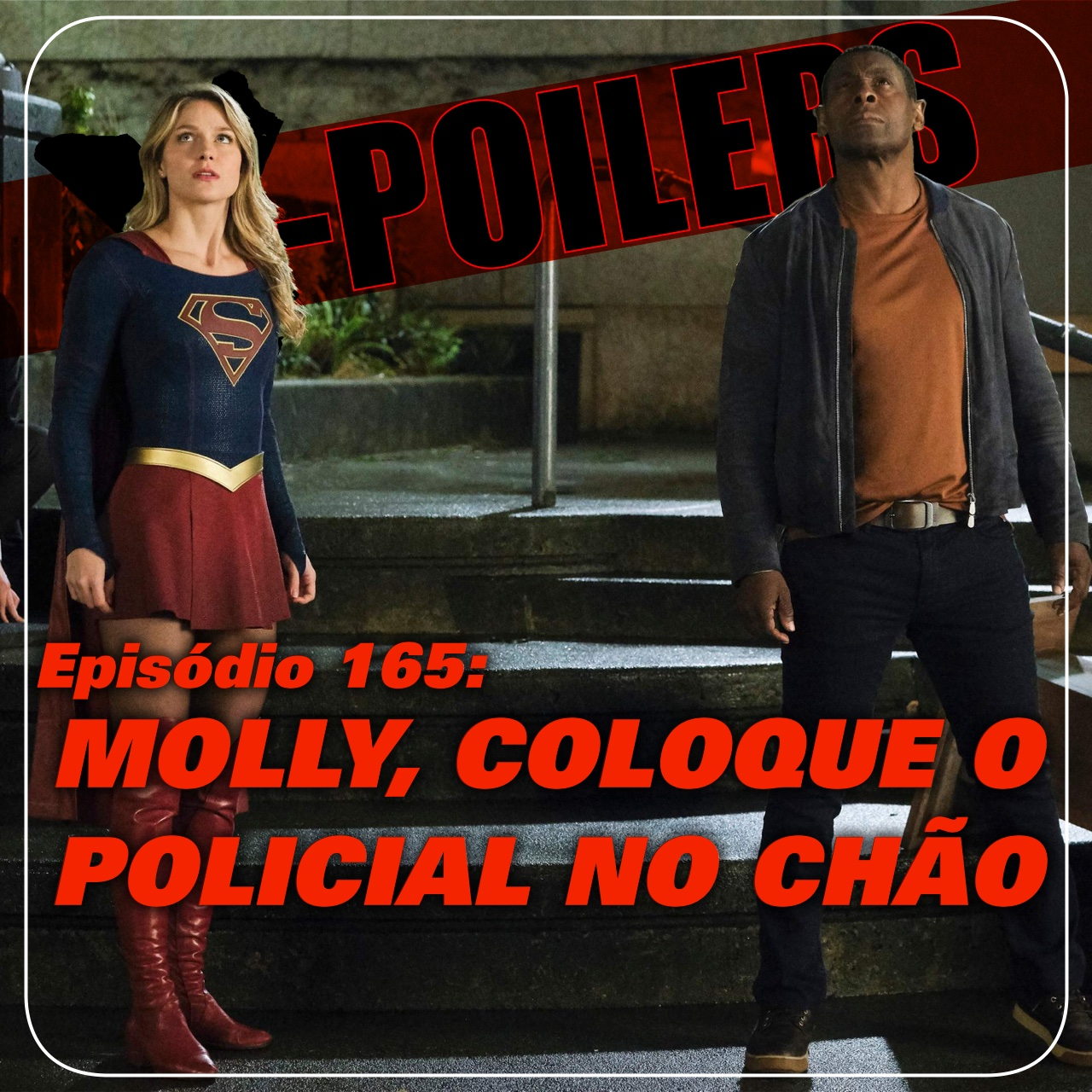 Molly, coloque o policial no chão
