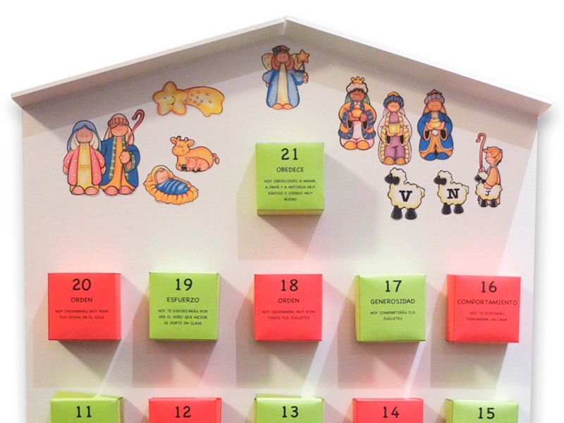 Calendario Adviento DIY terecarbonell