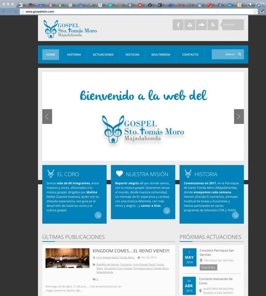 Web Coro Gospel Santo Tomás Moro