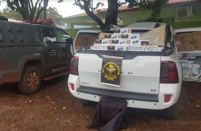Operação Hórus: Veículo carregado com dois mil cigarros contrabandeados do Paraguai foi apreendido pelo DOF