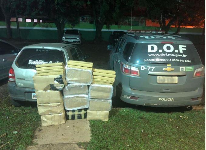 Operação Hórus: Veículo com mais de 270 quilos de maconha foi apreendido pelo DOF